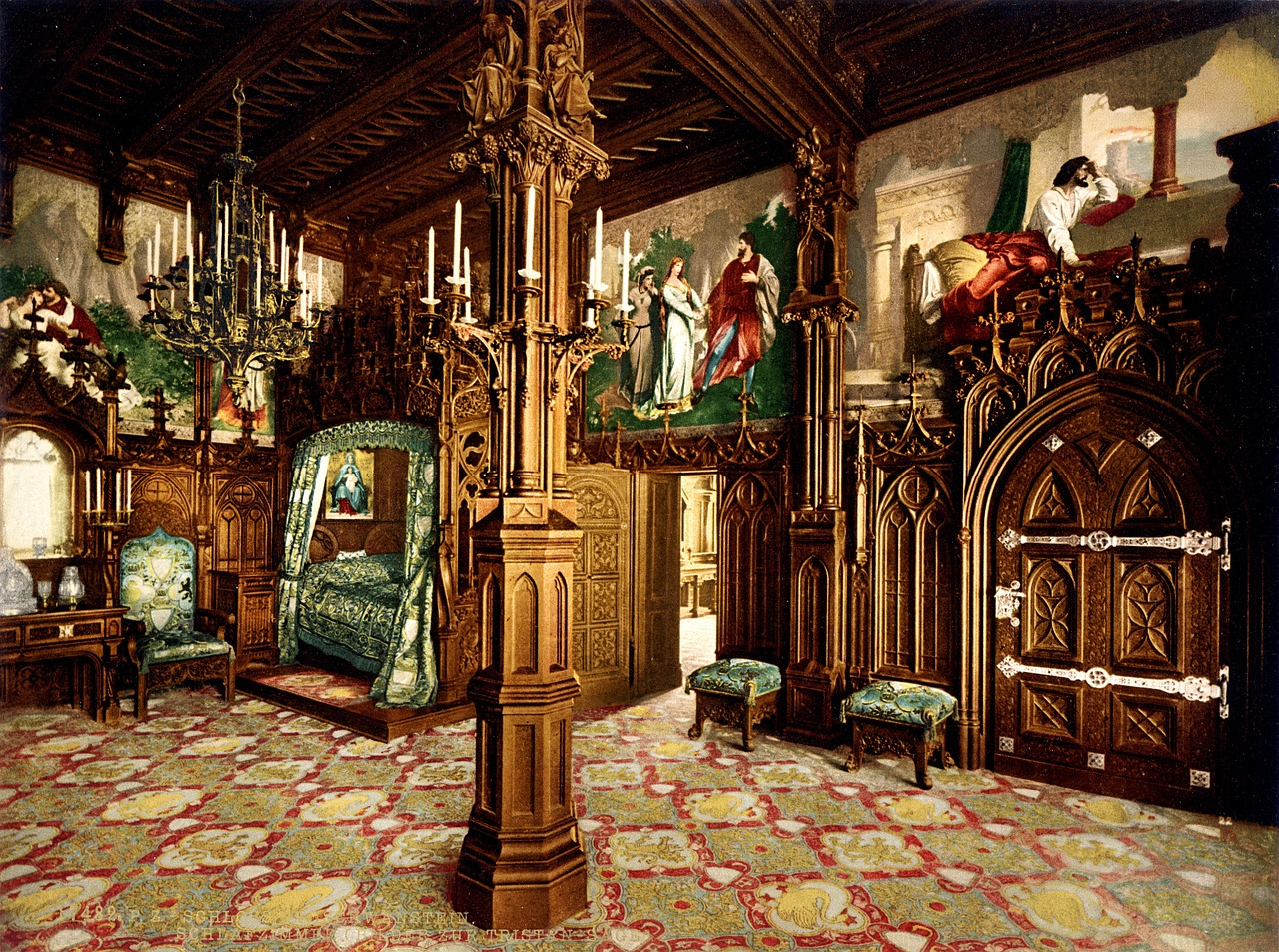 neuschwanstein castle bedroom free photo