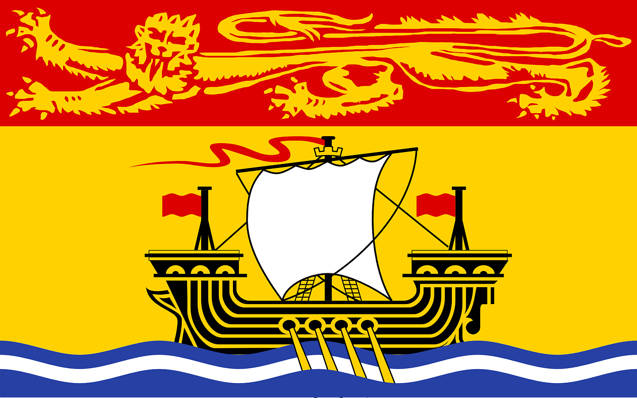 new,brunswick,flag,canada,new-brunswick,coat of arms,1965,banner,identity,symbol,free vector graphics,free pictures, free photos, free images, royalty free, free illustrations