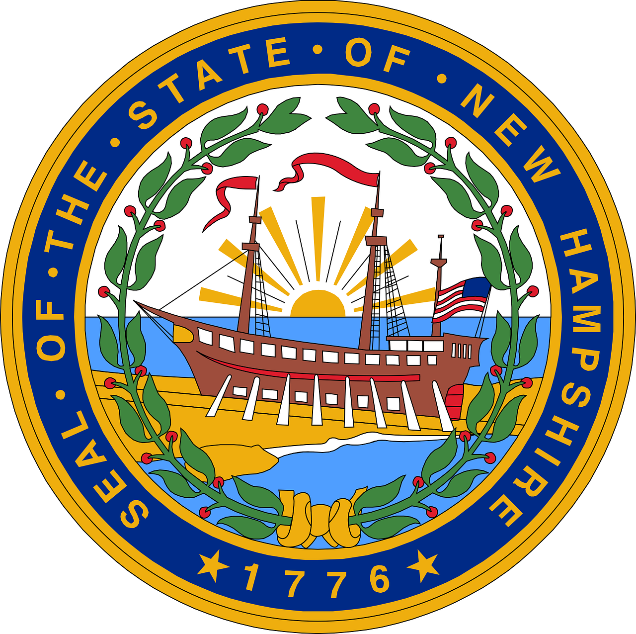 new hampshire seal free photo