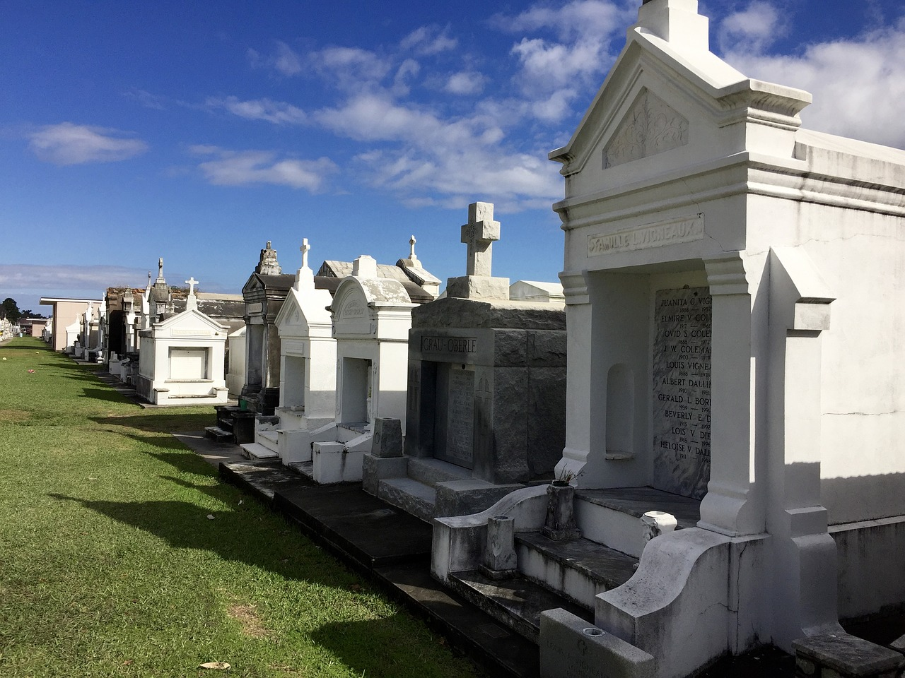new orleans cemetery mausoleum free photo