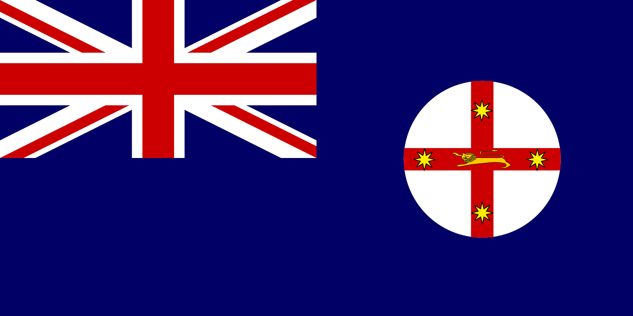 new south wales flag state free photo