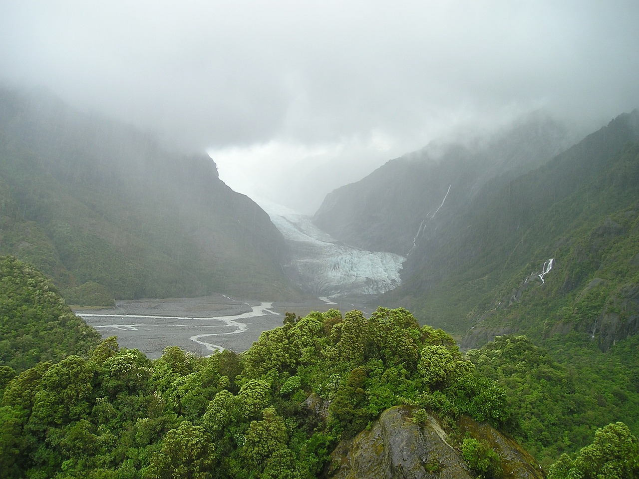 new zealand south island fox glacier free photo