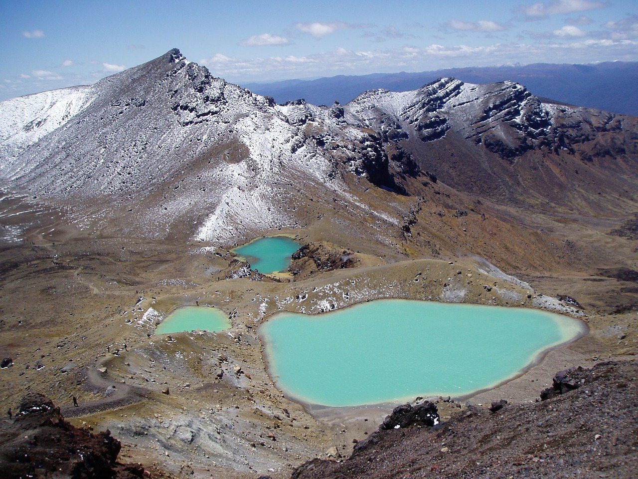 new zealand tongariro crossing emerald lakes free photo