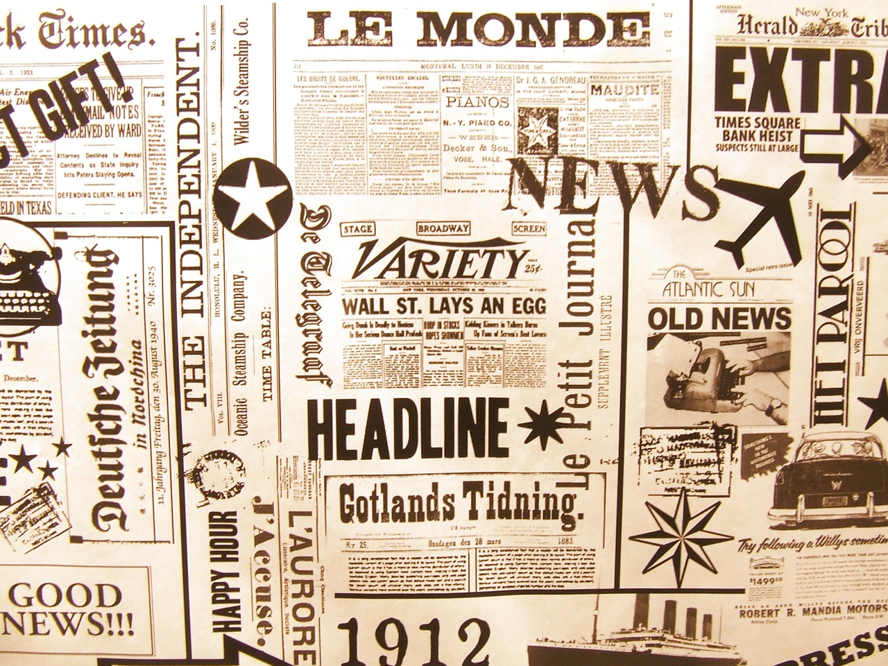 newspaper le monde background free photo