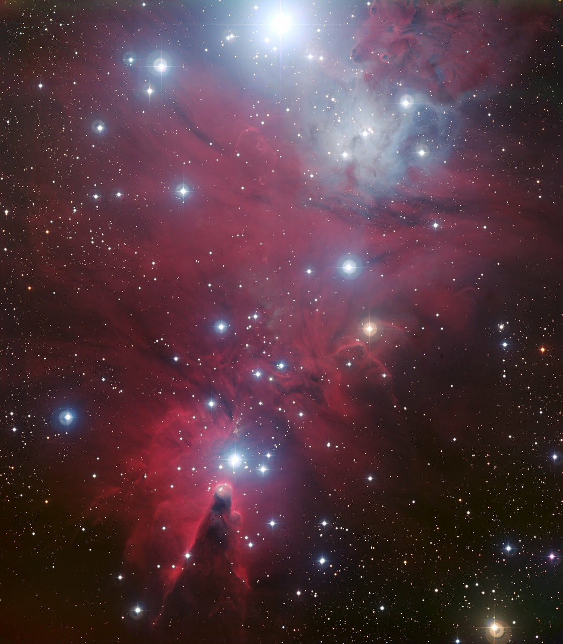 ngc 2264 dark nebula cone nebula free photo