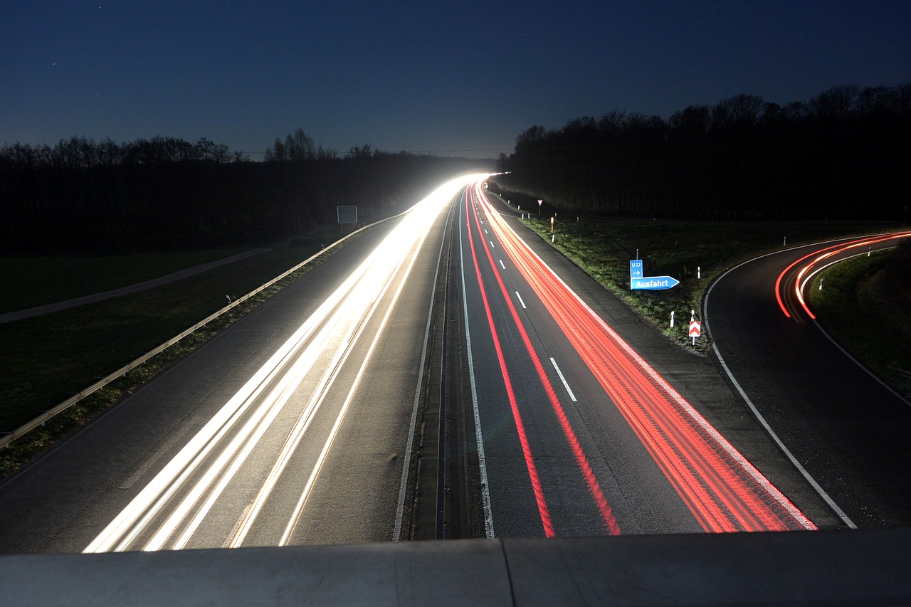 night highway night photograph free photo