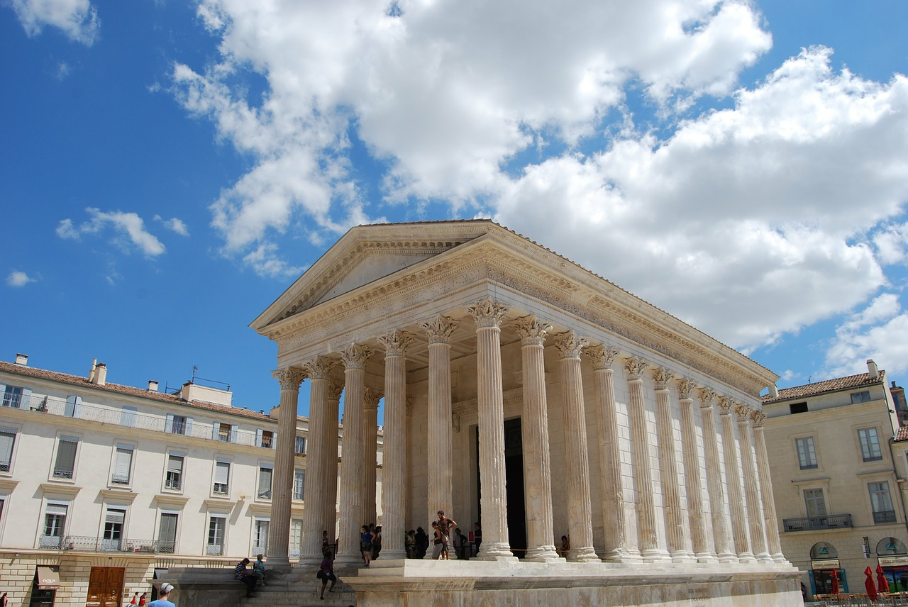nimes france temple free photo