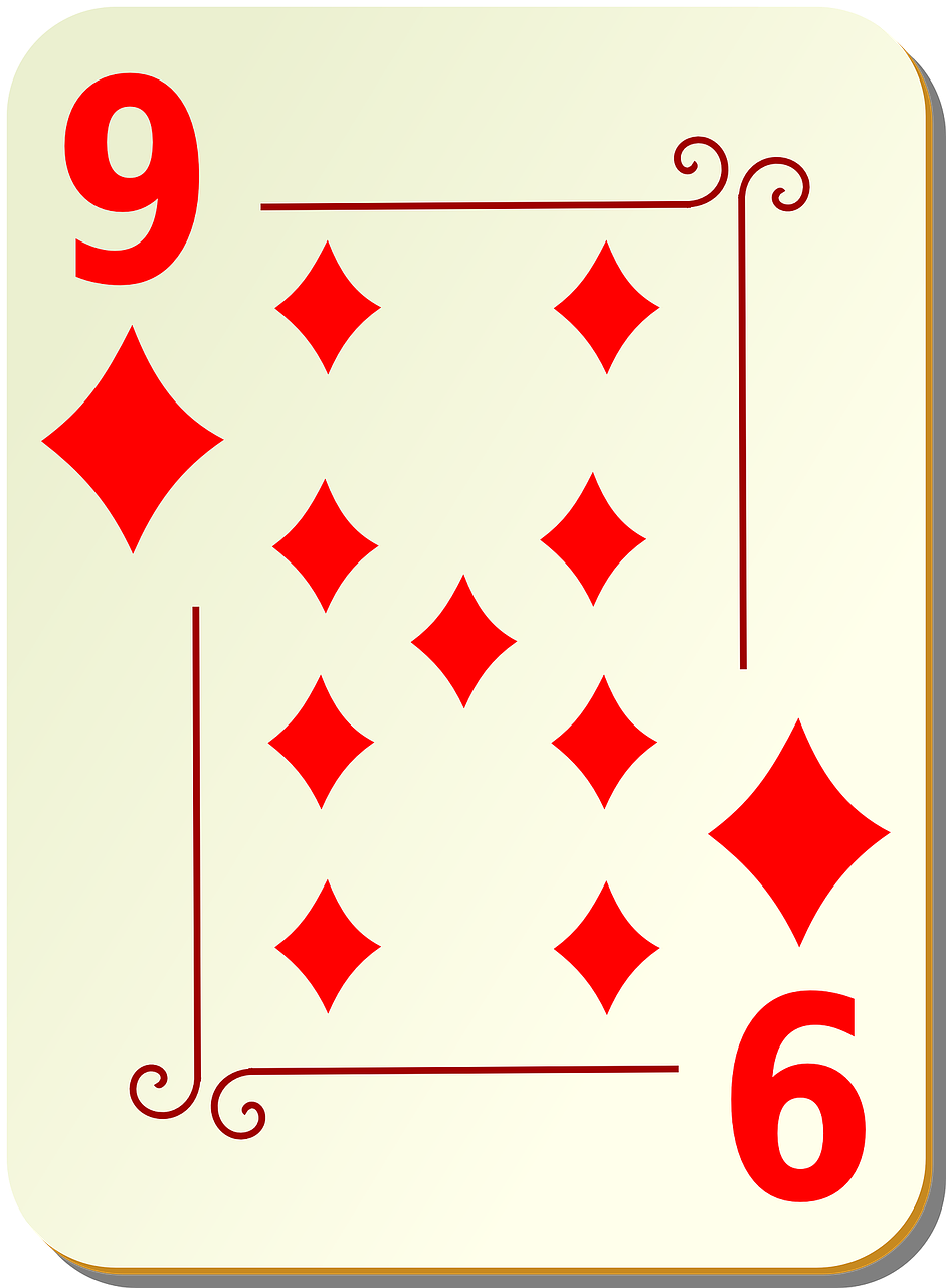 nine diamonds playing cards free photo