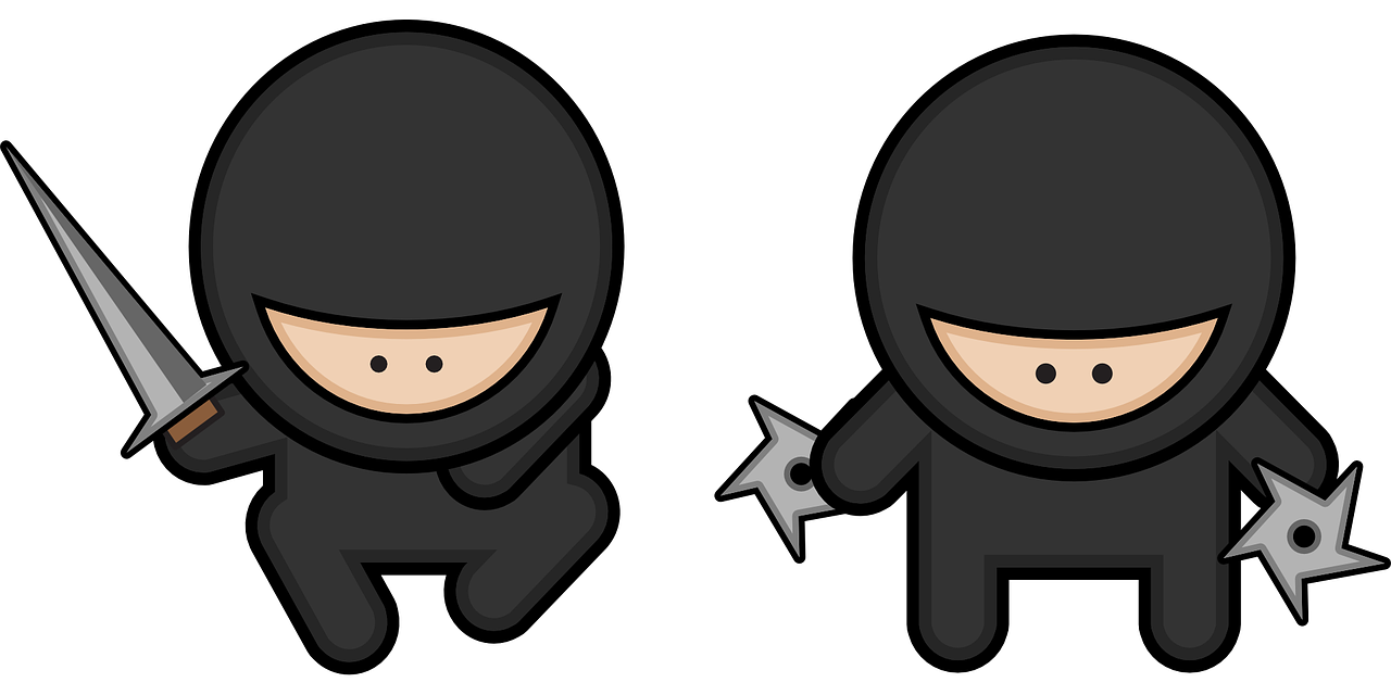 ninjas cartoon character free photo