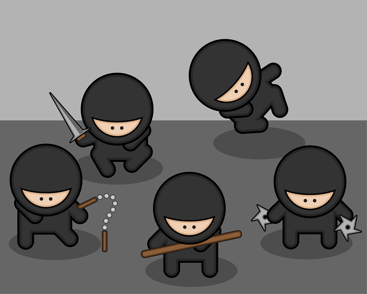 ninjas fighters fighter free photo