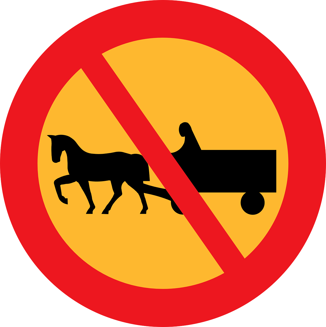 no carriages road sign roadsign free photo
