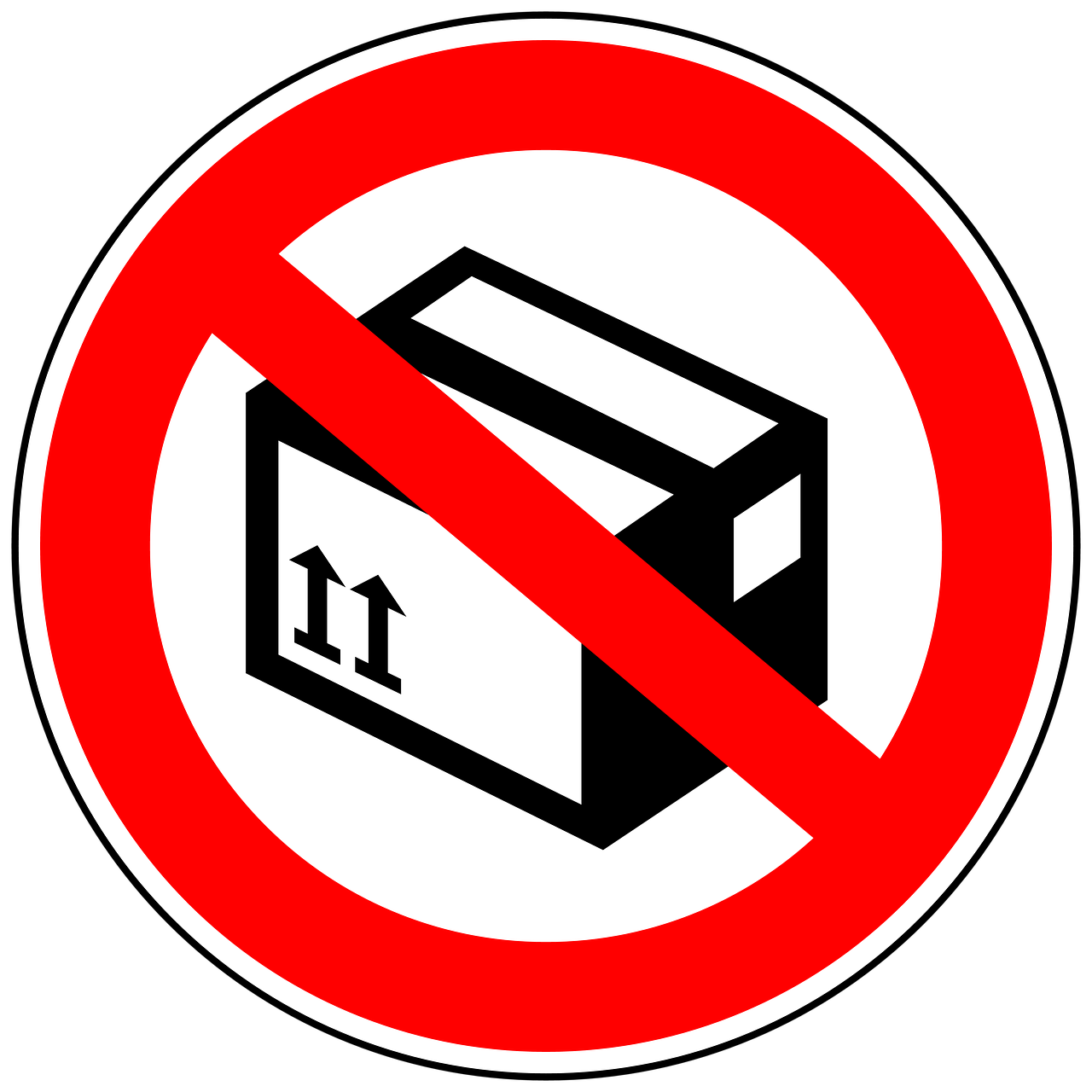 No Packages Package Acceptance Package Ban Icon Free Image