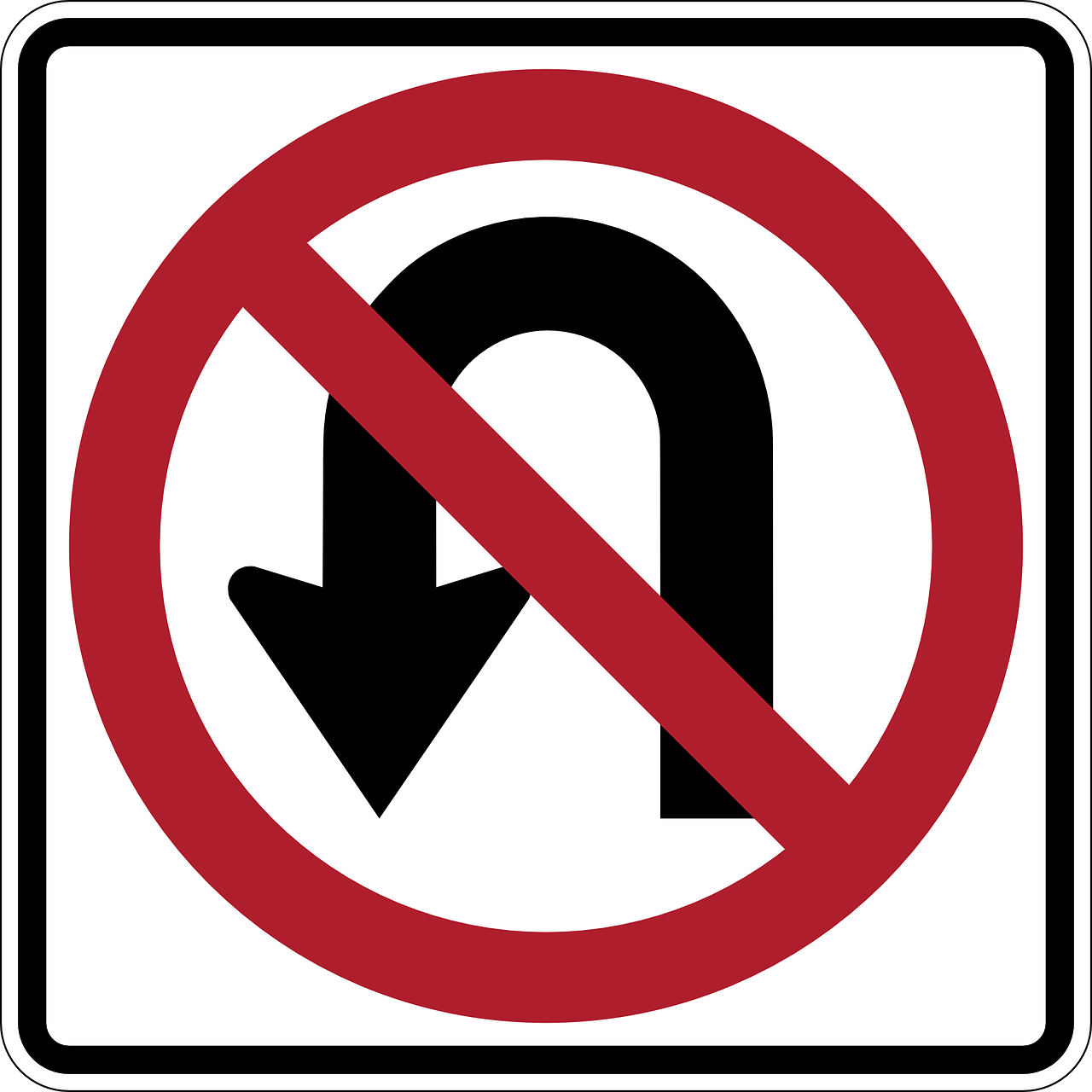 no u turn,u turn,forbidden,u-turn,prohibited,warning,caution,sign,symbol,free vector graphics,free pictures, free photos, free images, royalty free, free illustrations, public domain