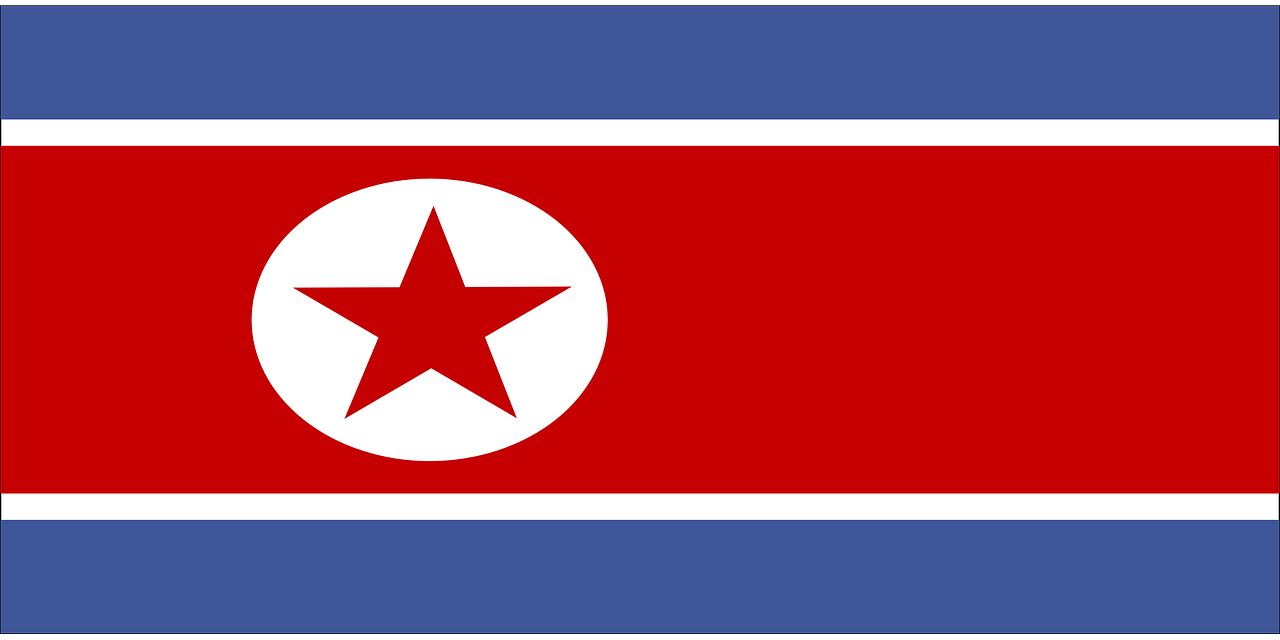 north flag korea free photo