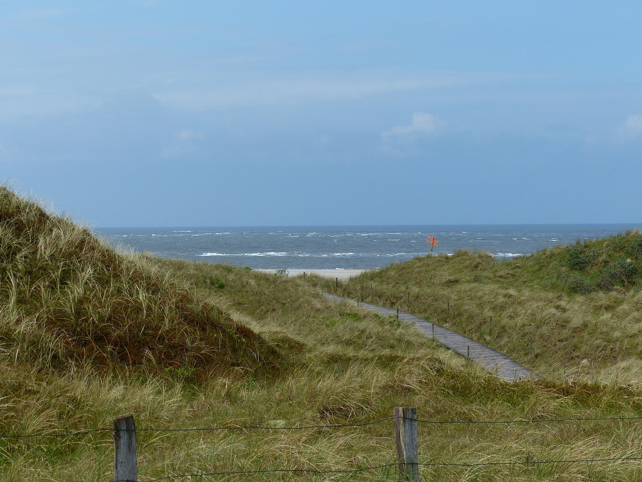 north sea dunes sea free photo