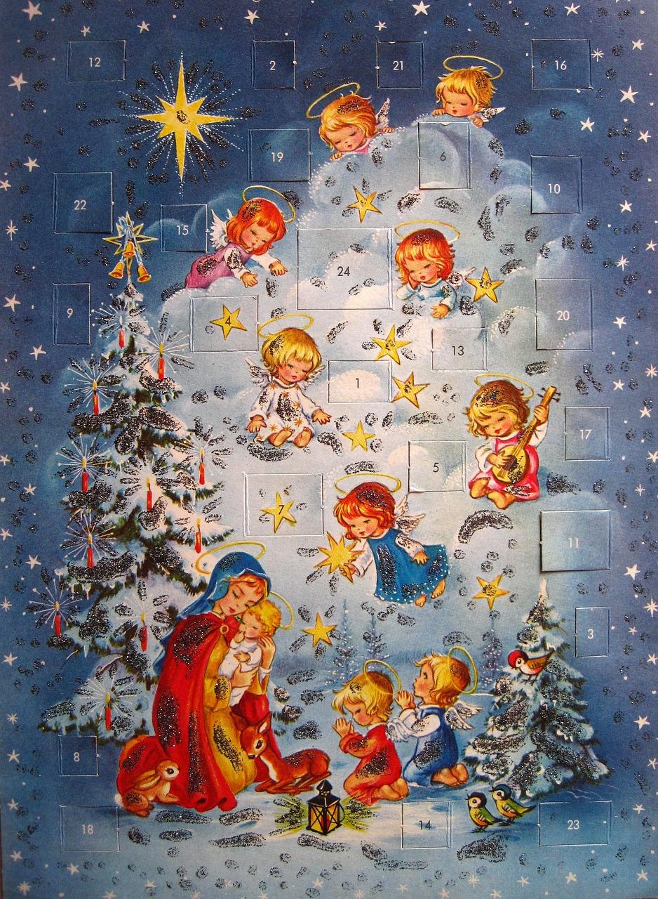 Nostalgic adventskalender,advent,angel,christmas,advent calendar ...