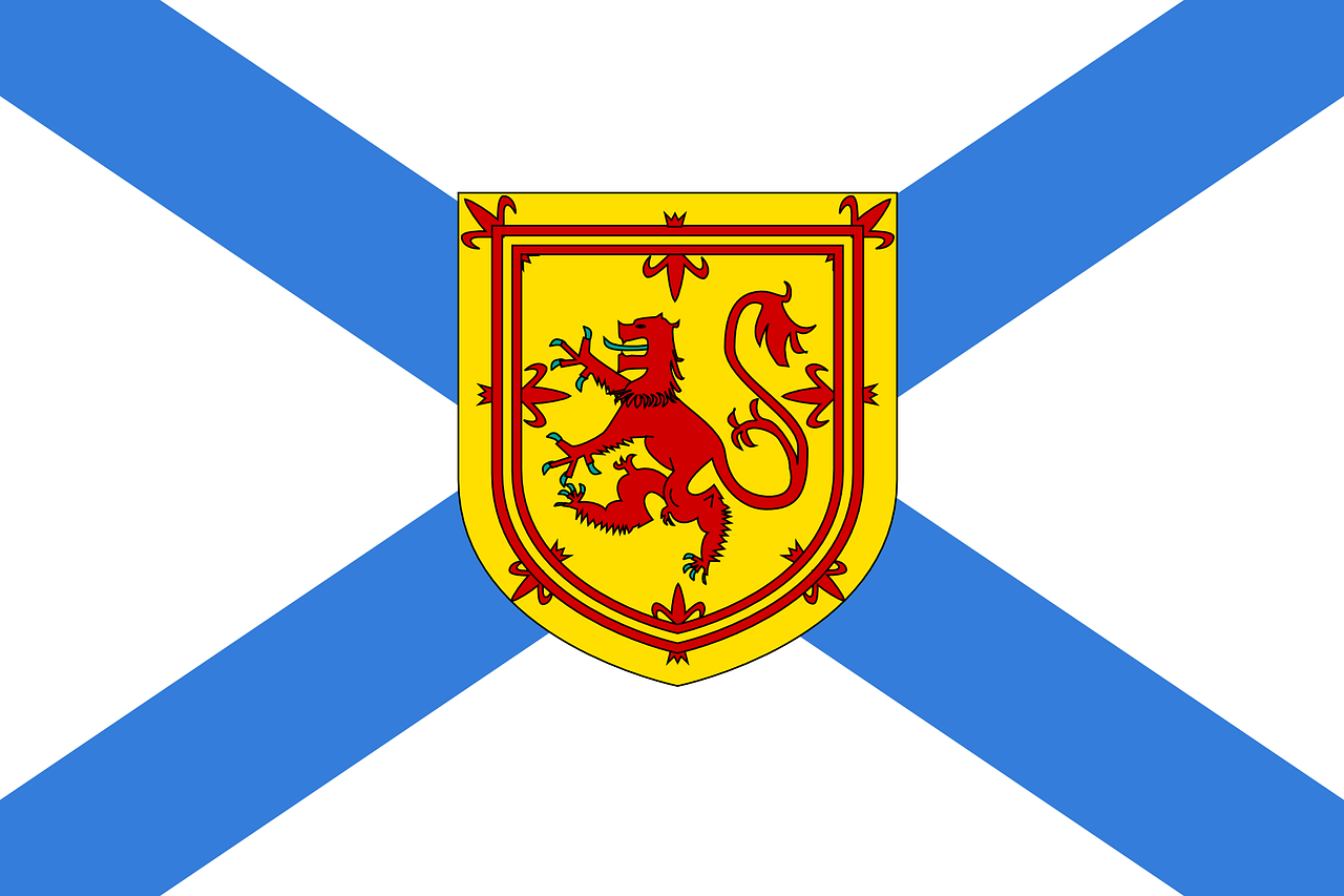 nova scotia flag official free photo