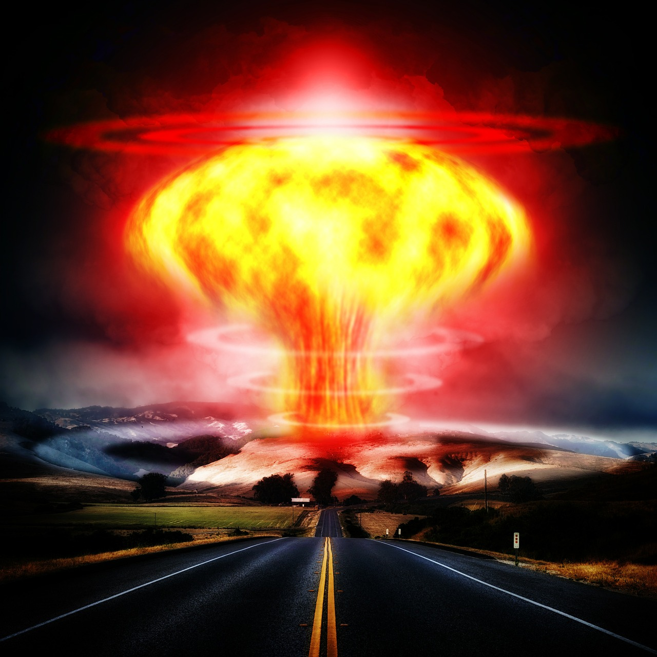 nuclear explosion mushroom cloud atomic bomb free photo