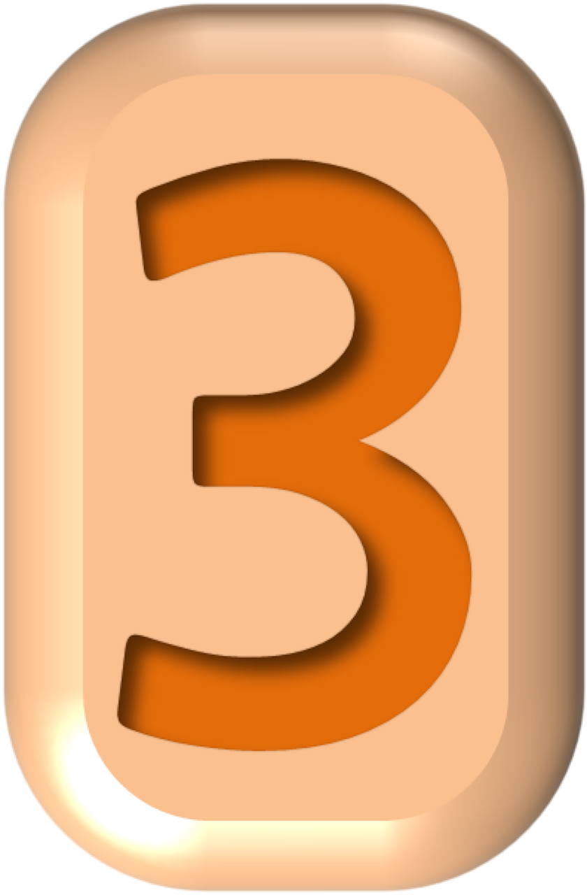 numbers button shape free photo