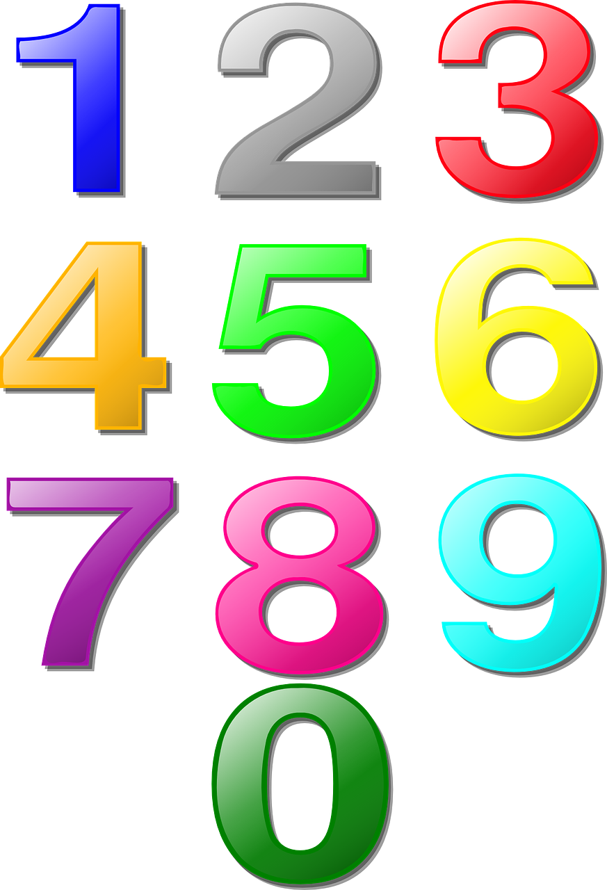 numbers counting maths free photo