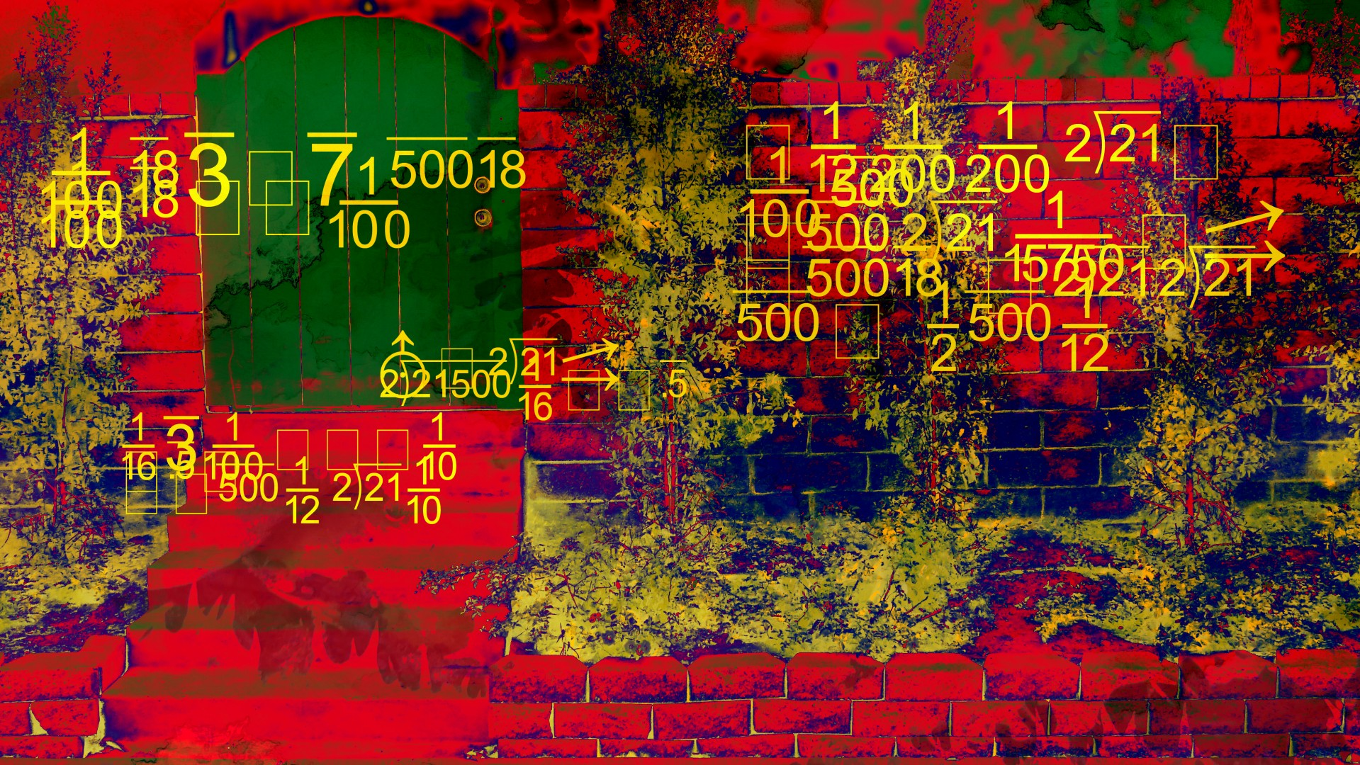 Numbers,red,gate,numerology,floating - free photo from needpix com