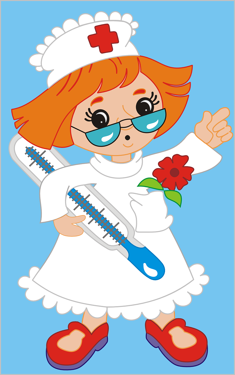 nurse cartoons medical free photo