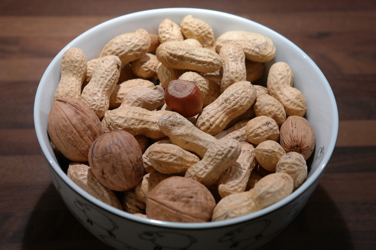 nuts peanuts walnuts free photo