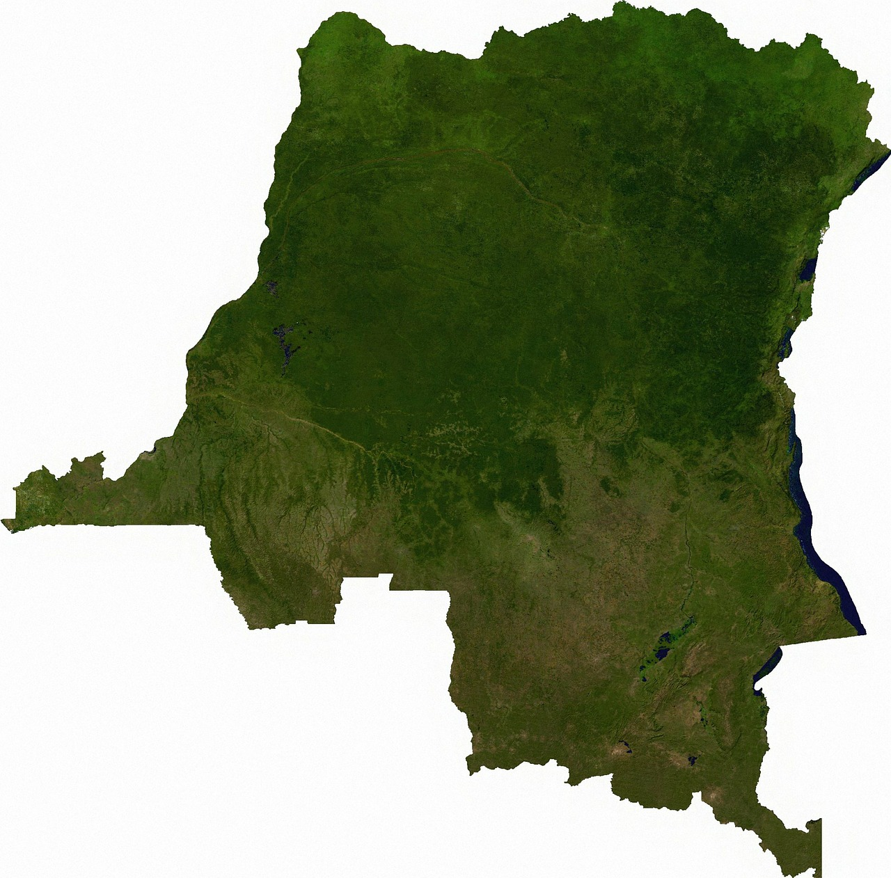 of the congo aerial view land free picture