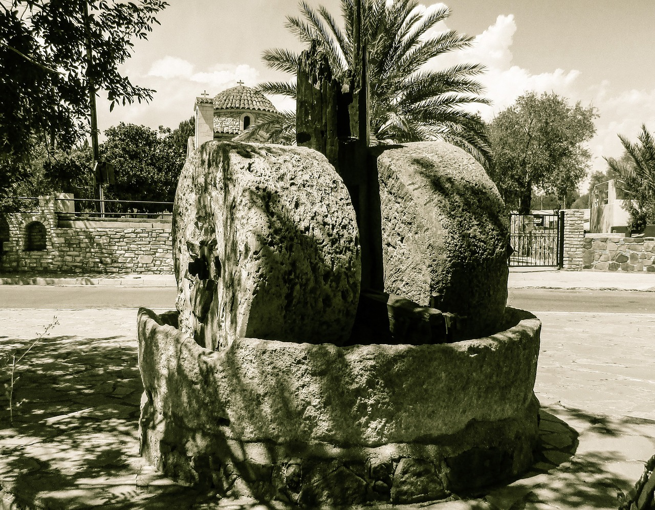 oil press,stones,oil,mill,millstone,agriculture,village,traditional,cyprus,sha,rural,countryside,free pictures, free photos, free images, royalty free, free illustrations