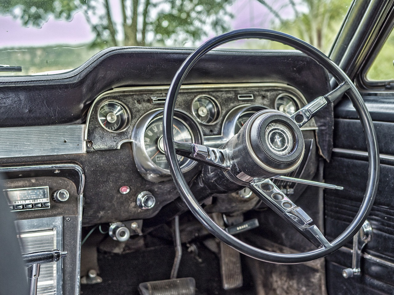 old car steering free photo