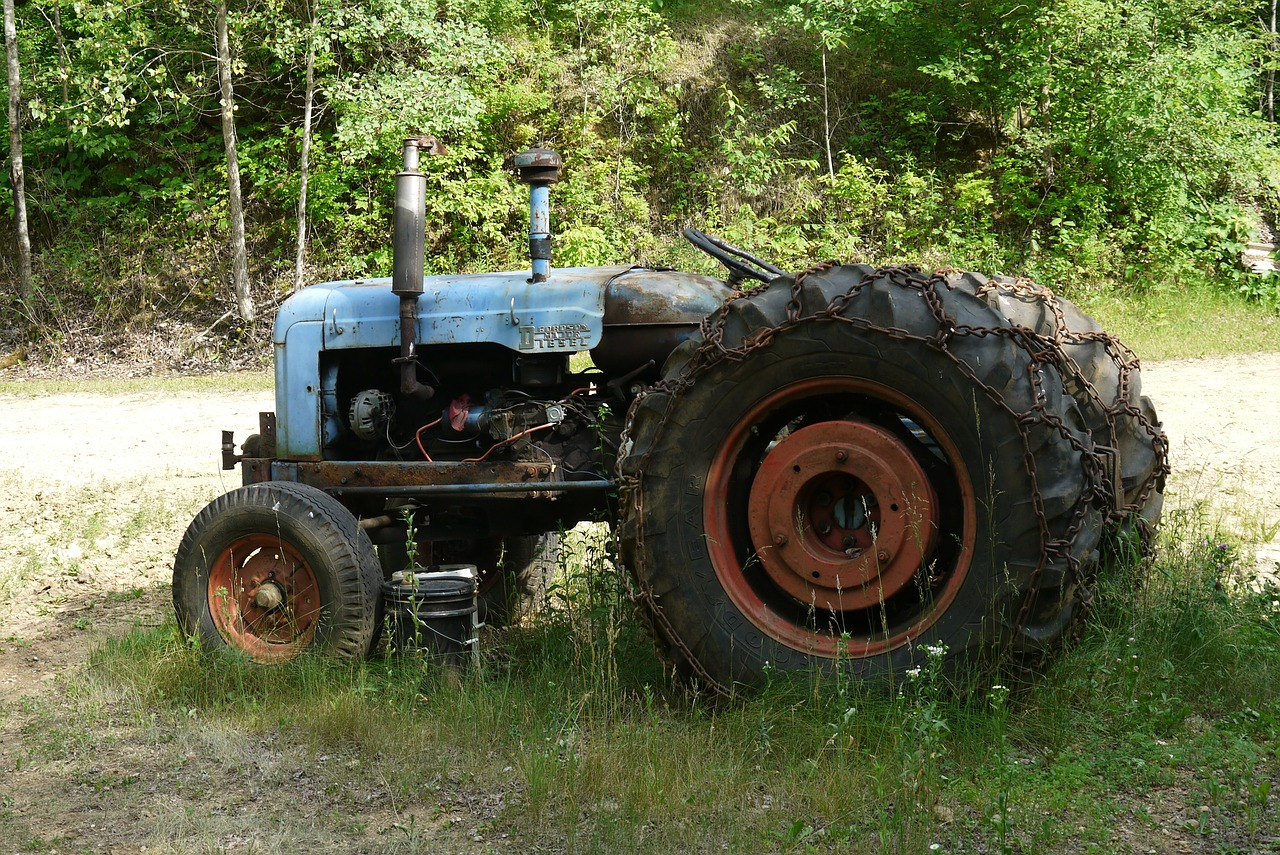 old tractor antique free photo