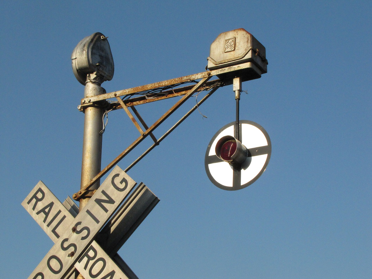 old railroad crossing free photo