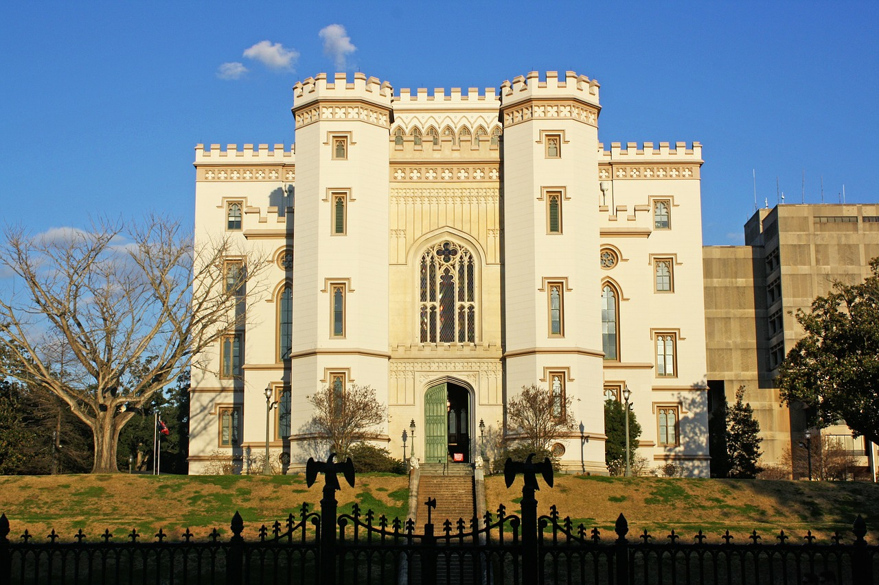 old state capitol castle baton rouge free photo