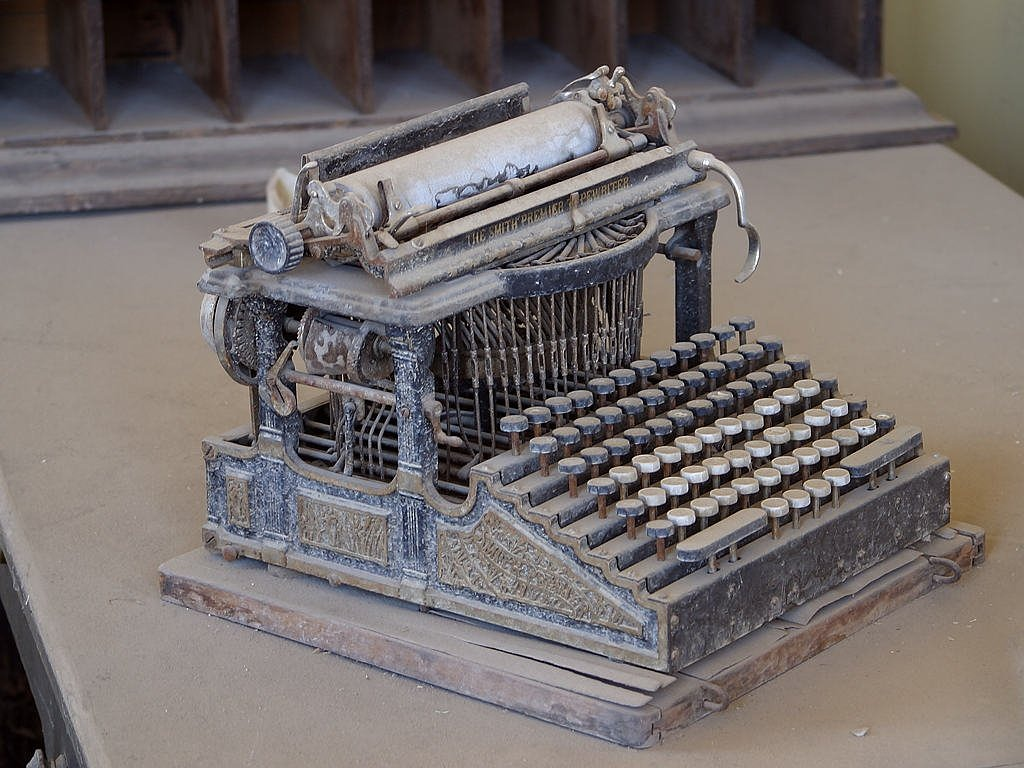 old typewriter ghost town bodie free photo