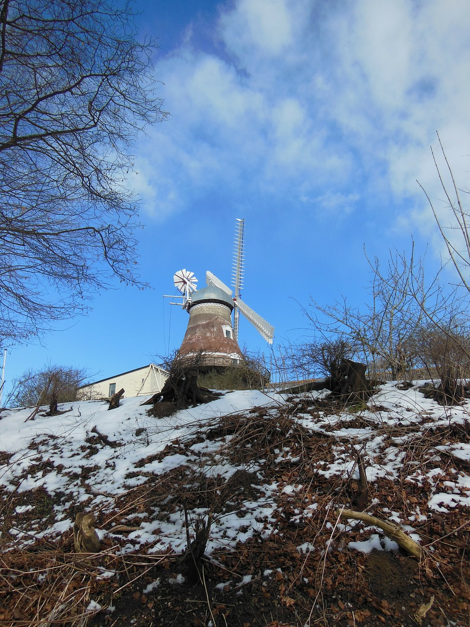 old windmill dyrhave mill 1800 free photo