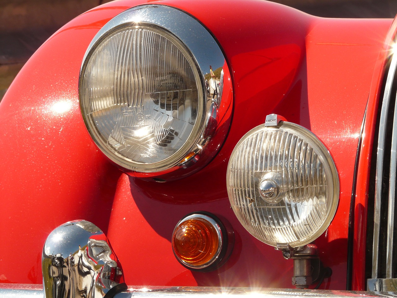 oldtimer auto spotlight free photo