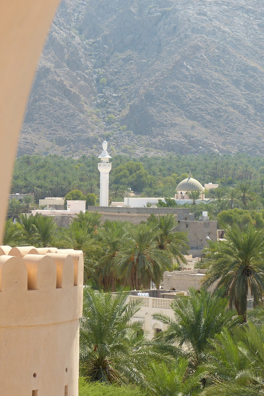 oman fort mosque free photo