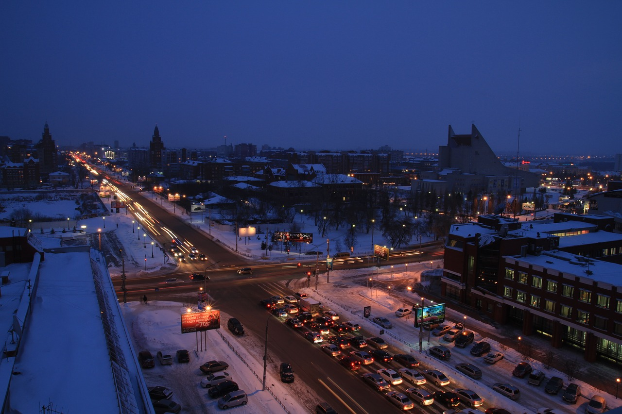 omsk winter road free photo