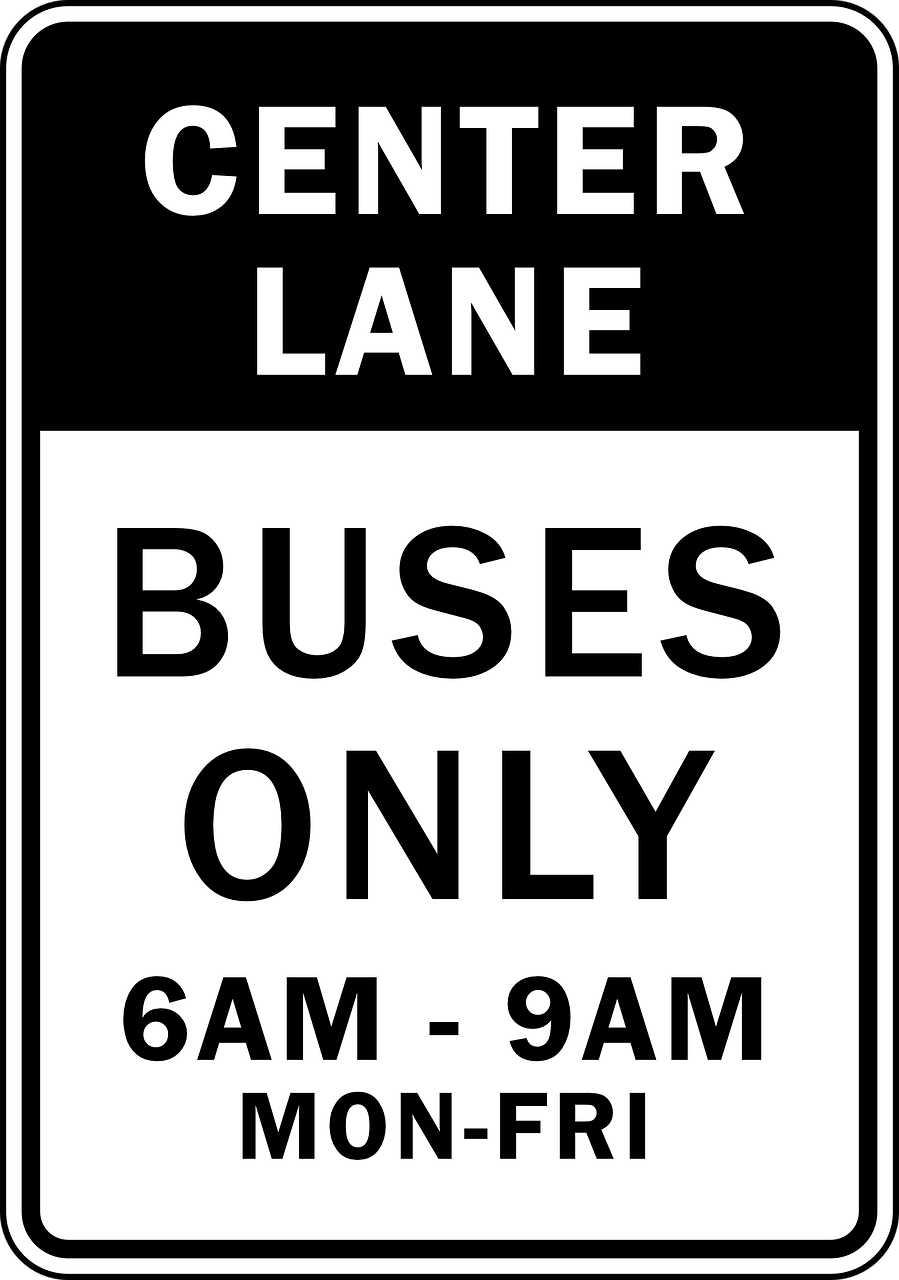 only lane buses free photo