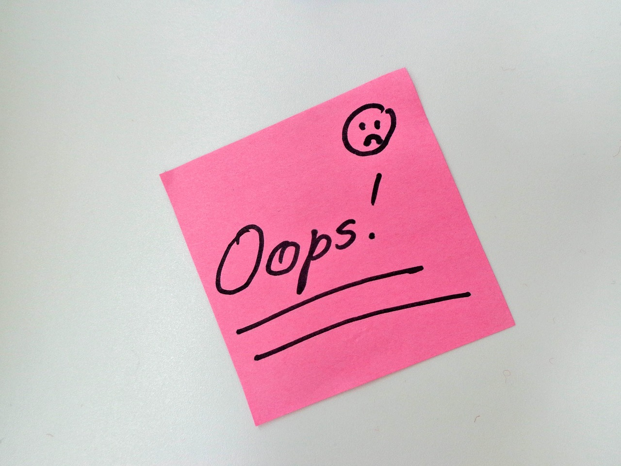 Oops,surprise,sticky note,pink,smiley - free image from needpix.com