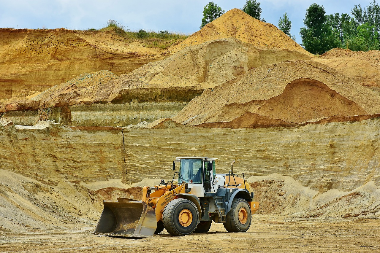 open pit mining sand raw materials free photo