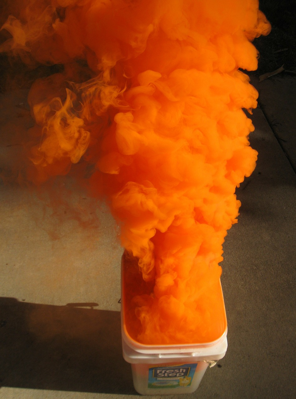 orange smoke distress free photo
