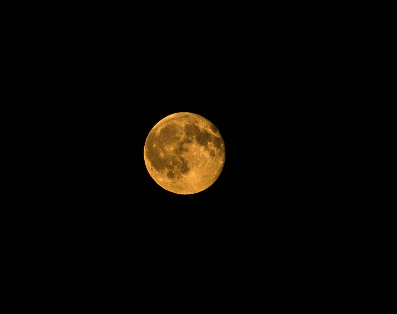orange moon full moon full orange moon free photo