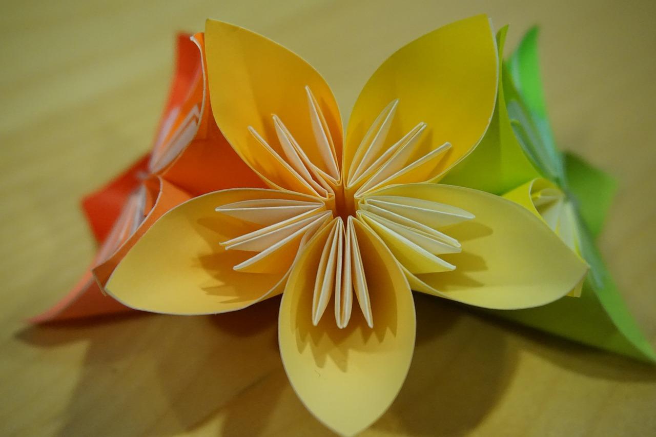 Origamiflowerpaper Foldingmodules Free Photo From Needpix
