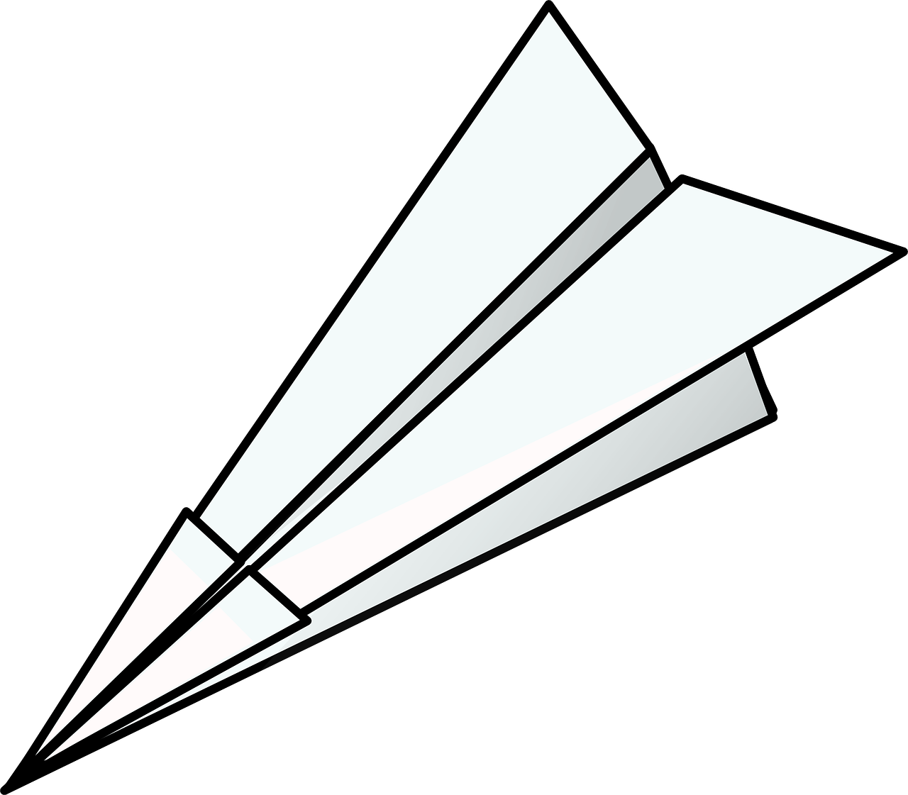 origami paper airplane free photo