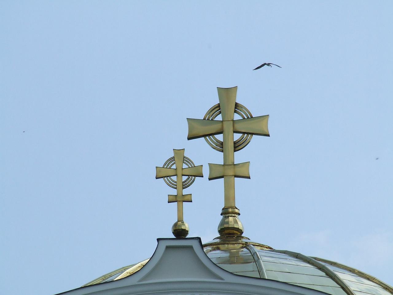 Кресты на российских церквях фото