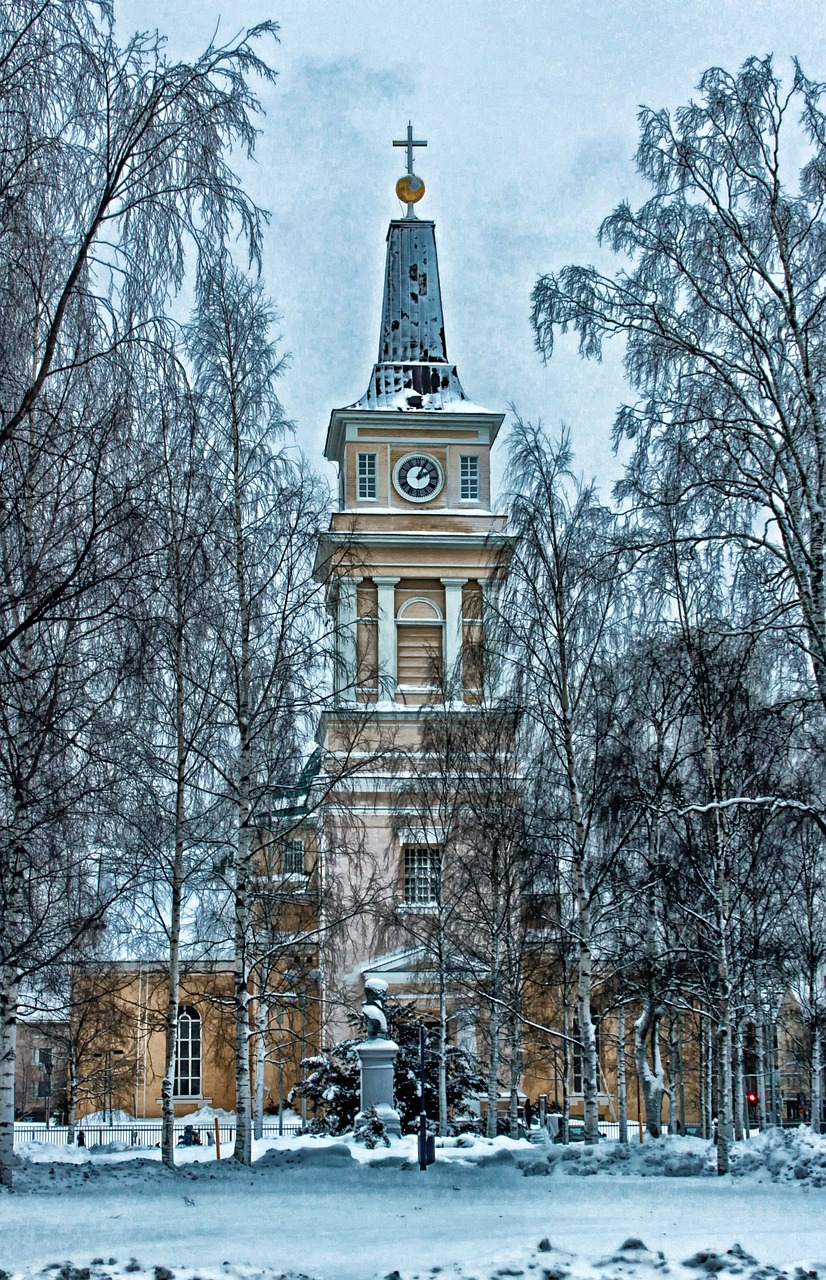 oulu finland cathedral free photo
