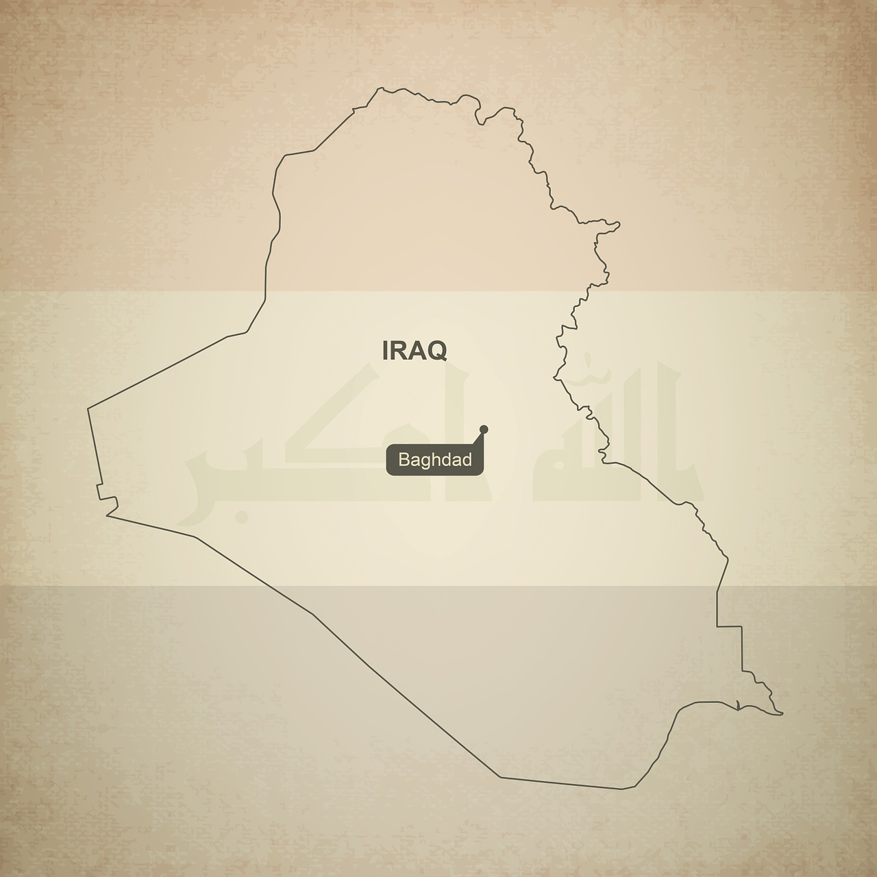 outline map iraq free photo