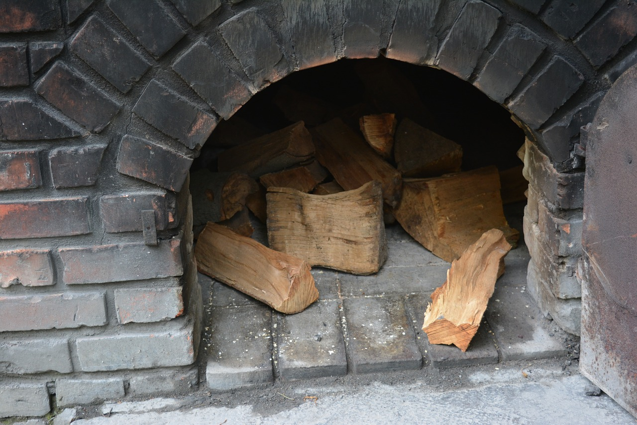 oven fireplace firewood free photo