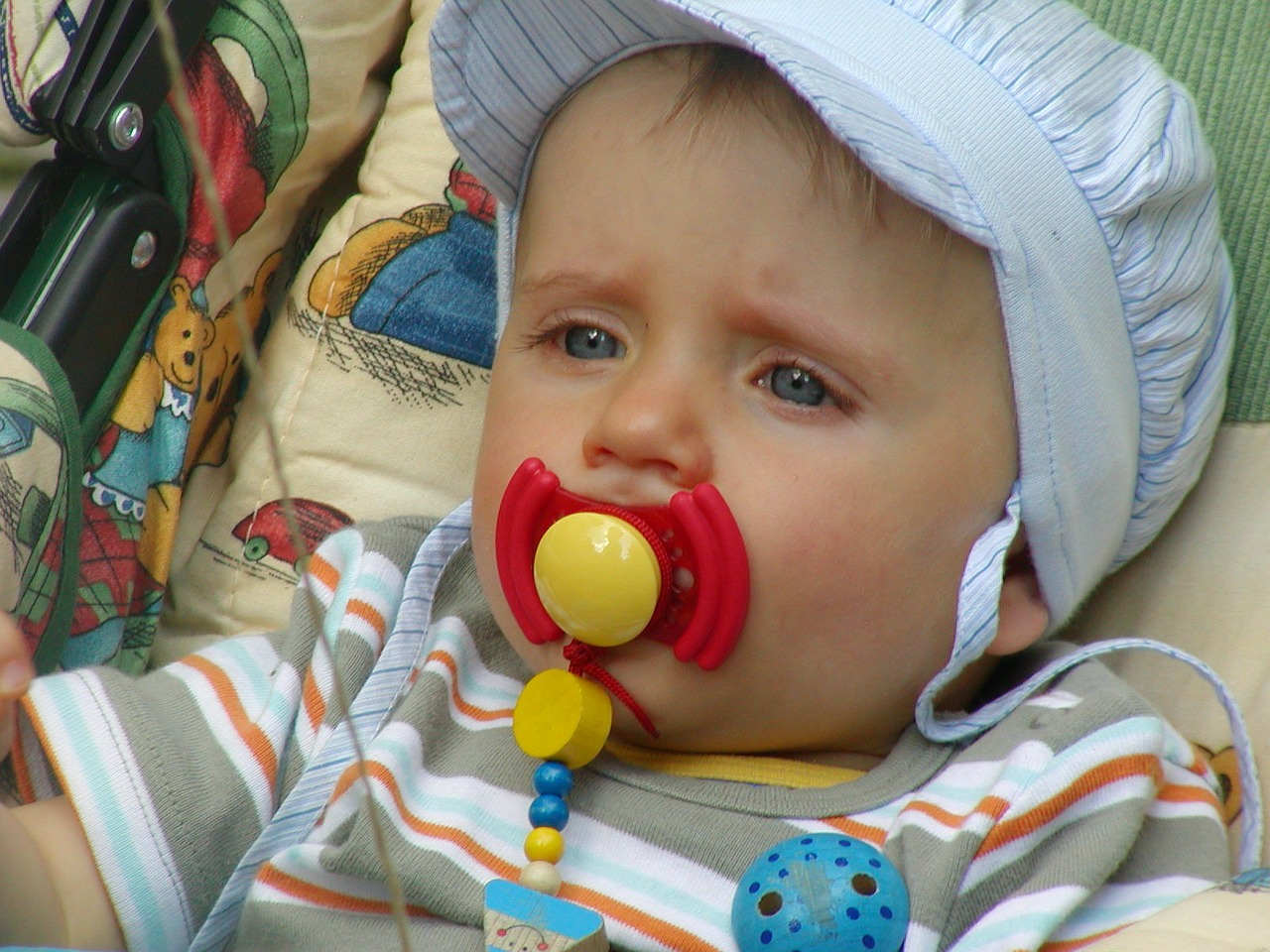 pacifier baby carriage small child free photo